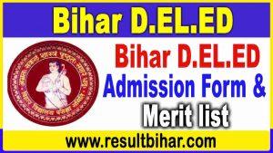 Bihar Deled Admission Online Form 2021-23